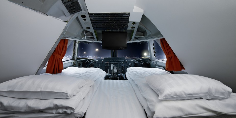 Hoteles fuera de lo común como este avión